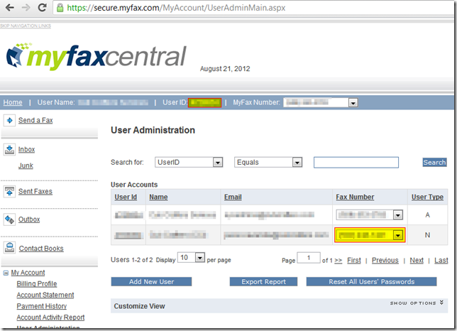 MyFaxCentral-User Administration Main Page - Google Chrome_2012-08-21_13-49-51-obfuscated