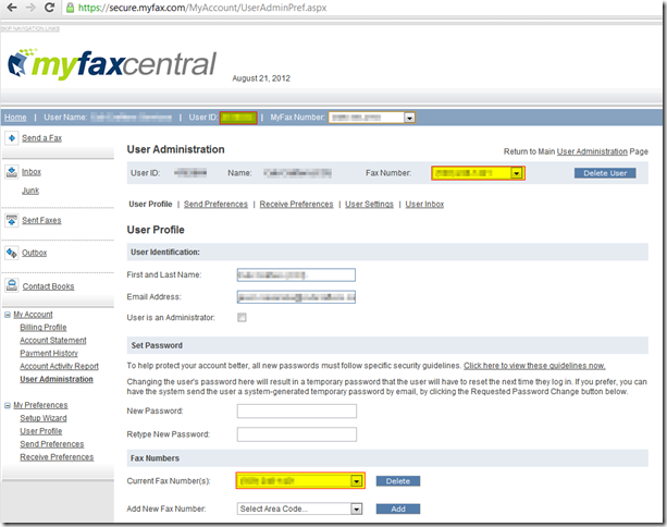 MyFaxCentral-User Profile Administration - Google Chrome_2012-08-21_13-50-37-obfuscated